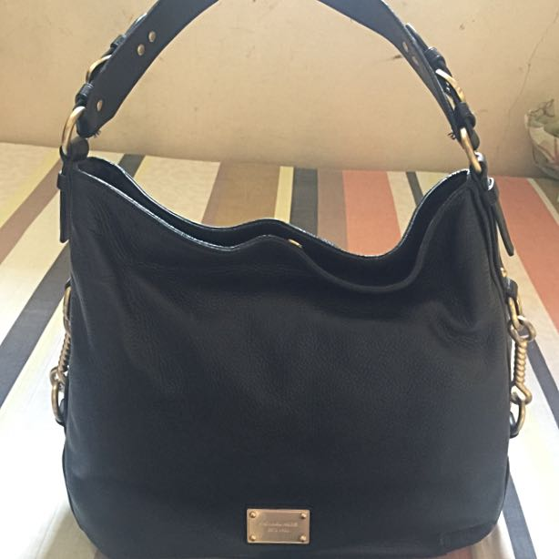 Michael Kors Black Leather Hobo Bag