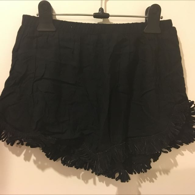 Miss Cocoa Black Frilled Shorts