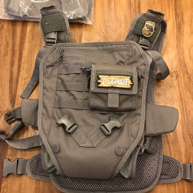 Mission Critical Baby Carrier Daypack Bundle In Grey Babies