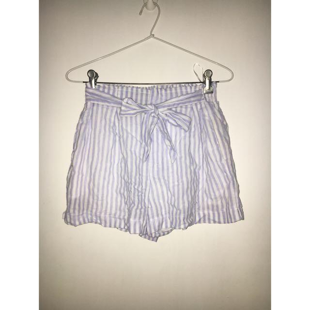 Mooloola Blue Stripe Shorts