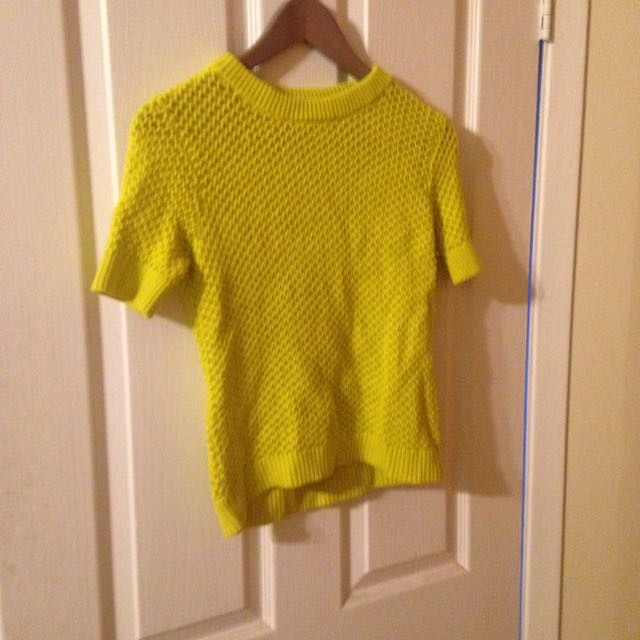 Neon Yellow Club Monaco Sweater