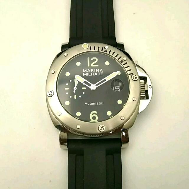 New 44mm Luminor Marina Militare Automatic Diving Watch,Panerai Style