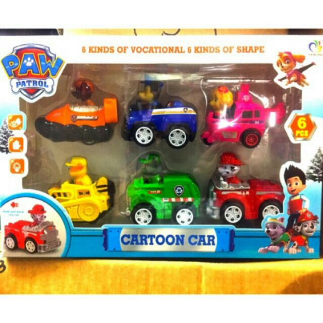 Paw Patrol Pull Back Toy Cars