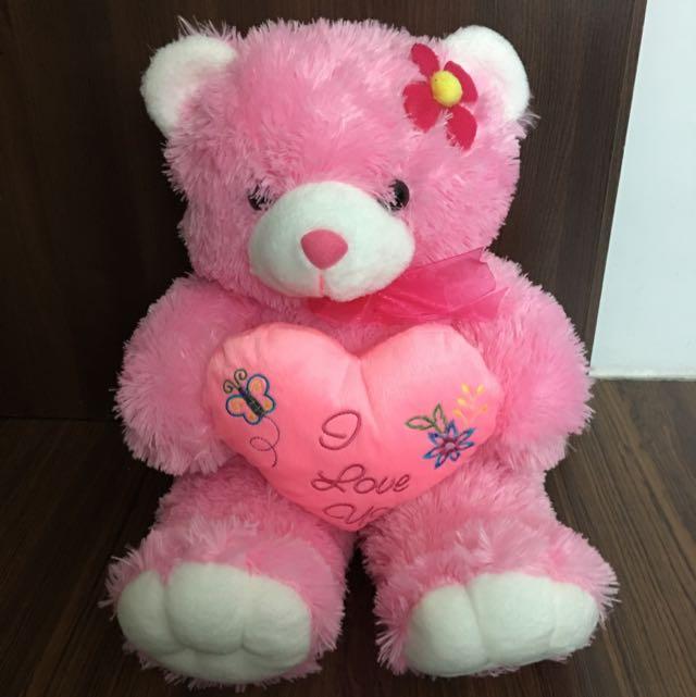 Pink Bear Doll