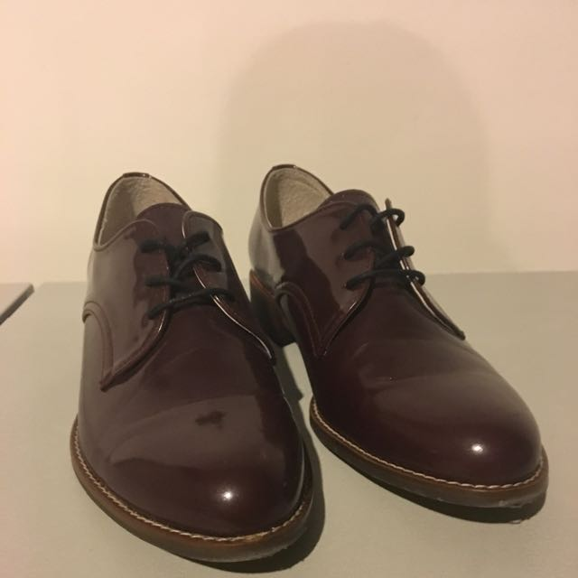 Plum Oxford Shoes