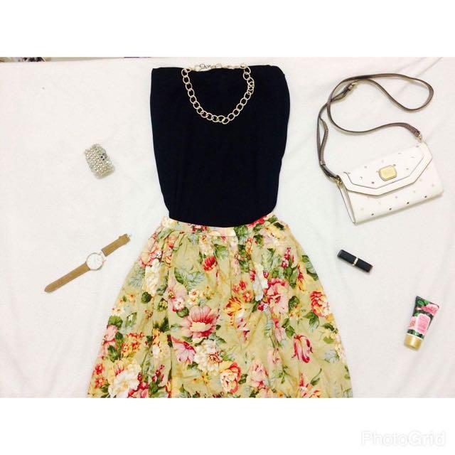 Preloved Long A-skirt