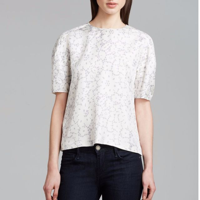 Rebecca Taylor Silk Lace Print Top - Size 4 - 70% Off!!