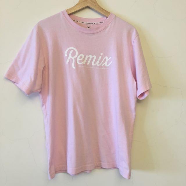 remix 粉紅 短T