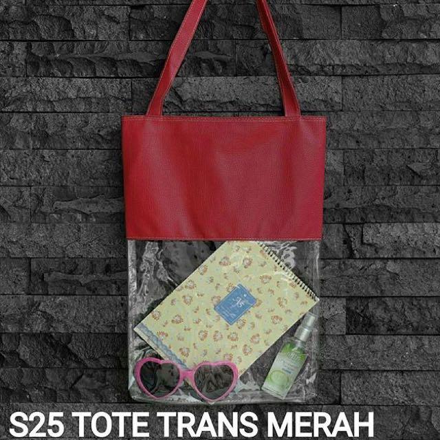 S25 TOTE TRANS MERAH