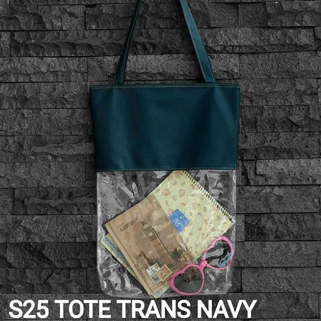 S25 TOTE TRANS NAVY