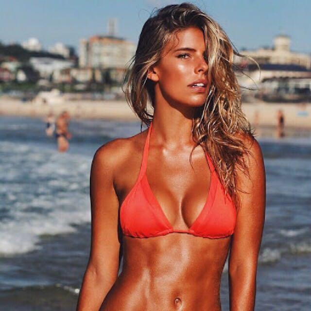 Seafolly Red Bikini Top