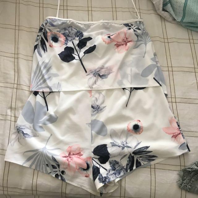 Size 12 Floral Play suit