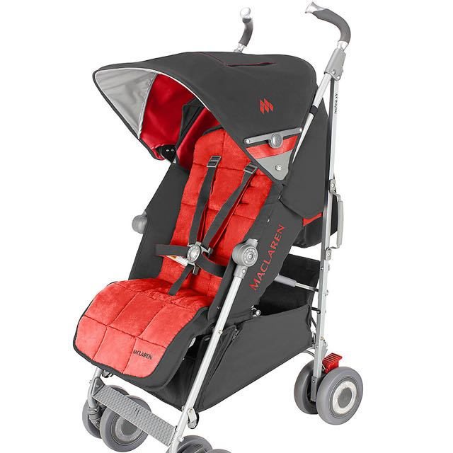 Stroller Maclaren Techno XLR In Grey-Red