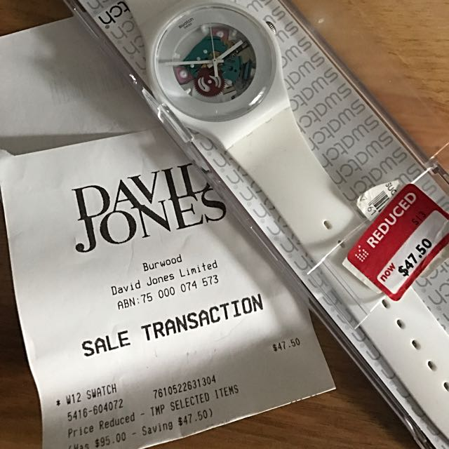 SWATCH WHITE BRAND NEW Never Used.