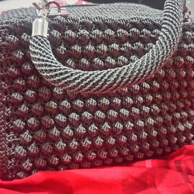 Tas Rajut Handmade Crochet Bobble Stitch Handbag