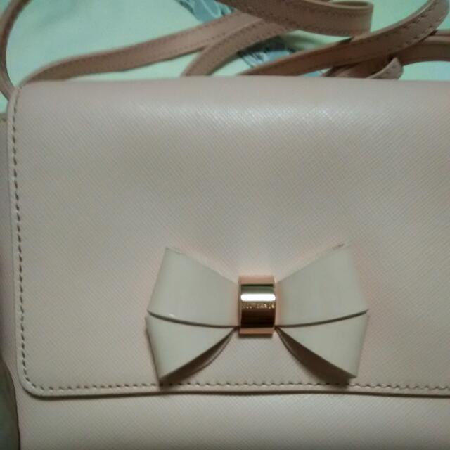 f01af5d38 Ted Baker Sling Bag Rose Gold Bow (Price Reduced!!)