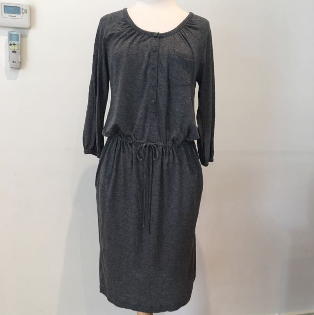 TRENERY Grey Jersey Dress With Pockets