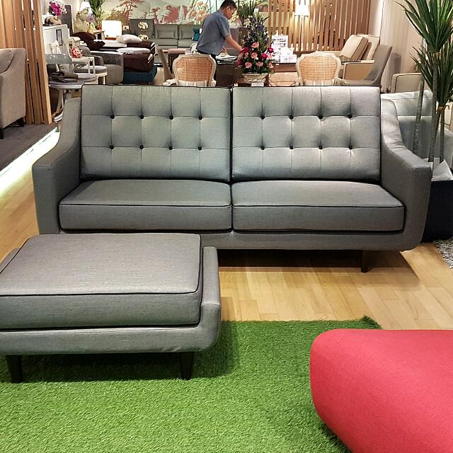 Vania 3 Seater Sofa Ottoman From The