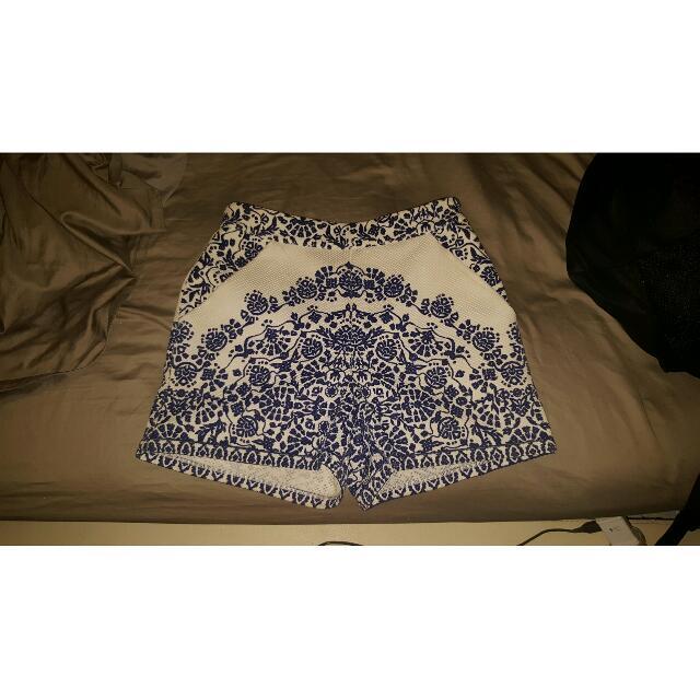 White & Blue Shorts