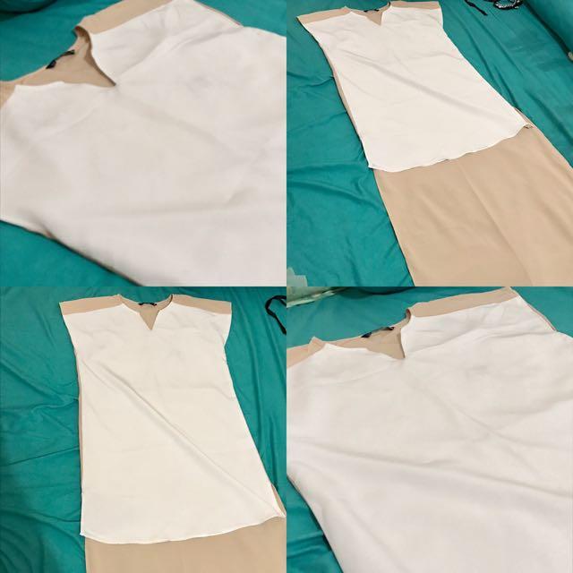 White Brown Dress
