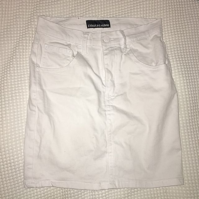 ZIGGY DENIM WHITE SKIRT