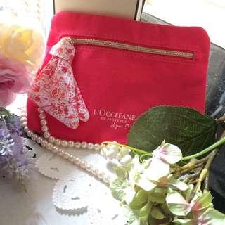 L'OCCITANE: Red Handy Cosmetic Bag