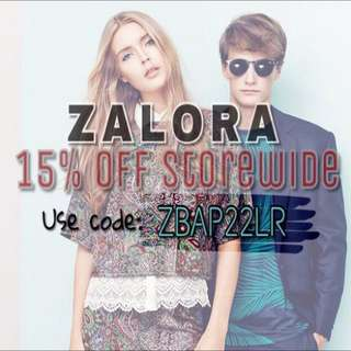 ZALORA SALE! 15% Off Coupon