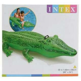 Intex Inflatable Gator/ Crocodile  Pool Float Ride-On for ages 3+