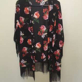 Rose Patterned Kimono