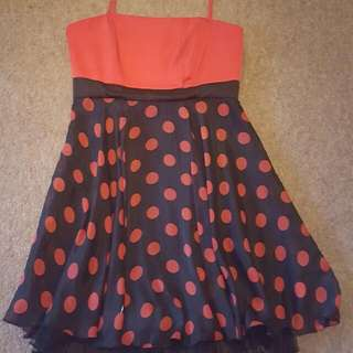 Black And Red Polka-dot Dress