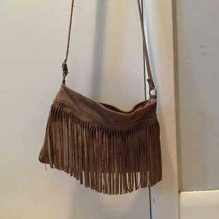 Camel Suede Purse