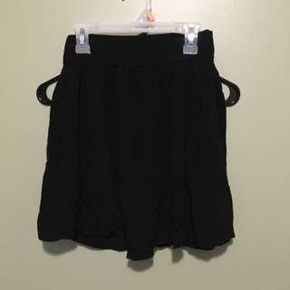 Garage High Waisted Black Flowy Skirt