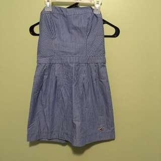 Hollister Blue & White Striped Summer Dress
