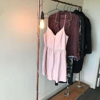 Zara Faux Leather Dress Blush