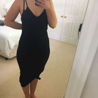 Topshop Ribbed Maxi Dress
