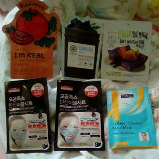 5 Face Masks, 1 Foot Mask