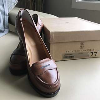 Brunello Cuccinelli High Heel Loafer Sz 37
