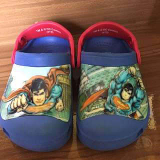 authentic crocs for boys (DC superman edition)