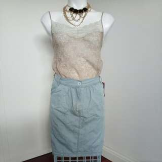 Brand New With Tags Women's / Ladies Wash Denim Loose Skirt