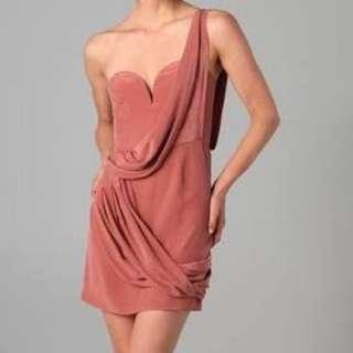 Zimmermann  Dress Six One Shoulder Drape Size 0