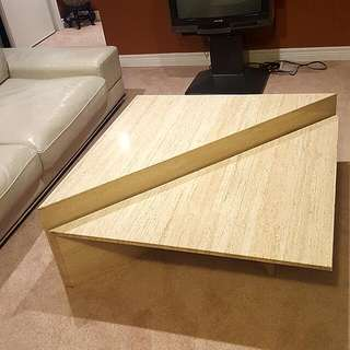 2 Piece Marble Coffee Table