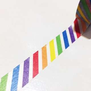 Rainbow Stripes/twirls Washi Tape