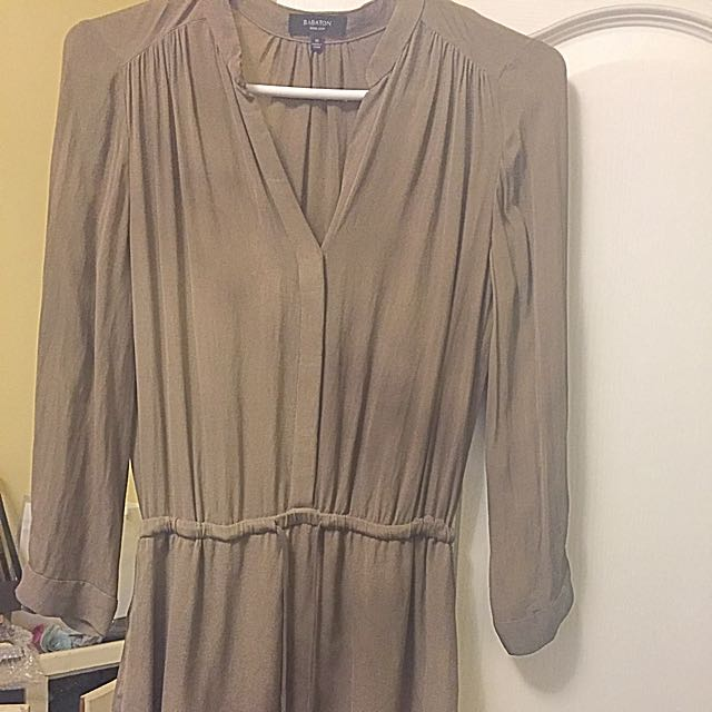 100% Silk Babaton Dress- Aritzia Xs