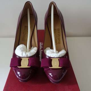 Salvatore Ferragamo Patent Calf Heels