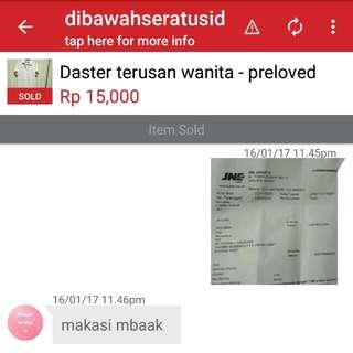 Testii, Makasih ordernya yaa..$^_^$