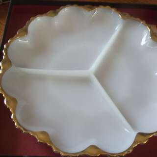 Beautiful porcelain and gold platter