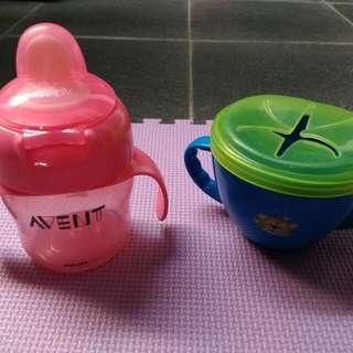 Botol Minum Avent & Mangkok Snack (Take All)
