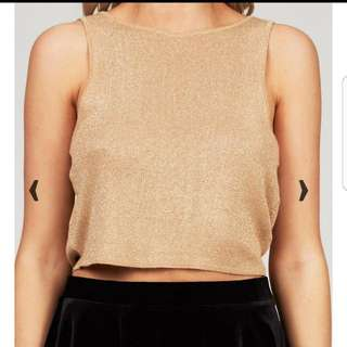 Gold Crop Top