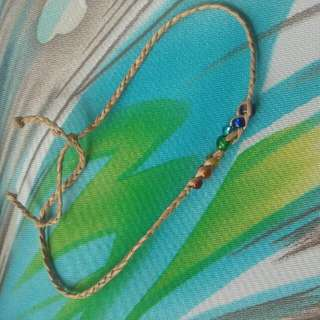 Charkra Hand Made Anklet From Twine