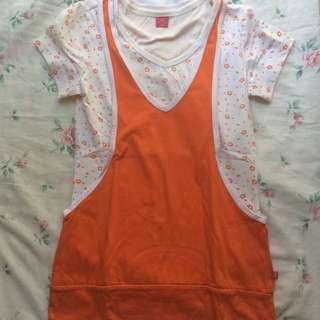 BNY Petite Orange Cute Shirt
